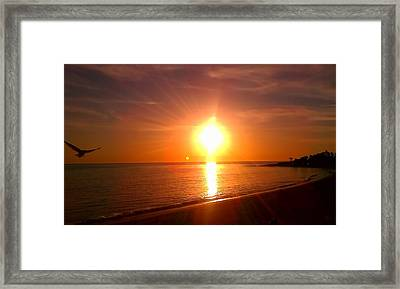 Framed Print featuring the photograph Beach by Chris Tarpening