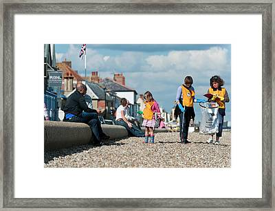 Beach Clean-up Framed Print by Matthew Oldfield