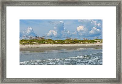 Beach Clouds Framed Print