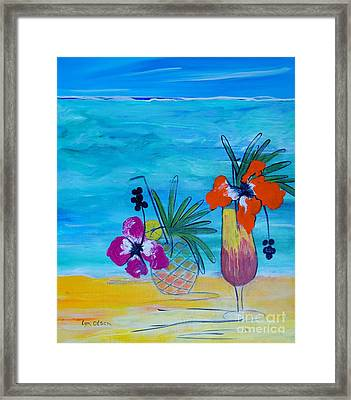 Beach Cocktails Framed Print by Lyn Olsen