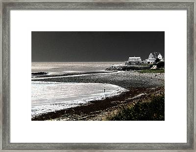 Beach Comber Framed Print