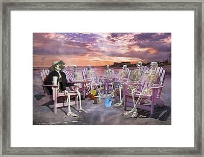 Beach Committee Framed Print by Betsy Knapp