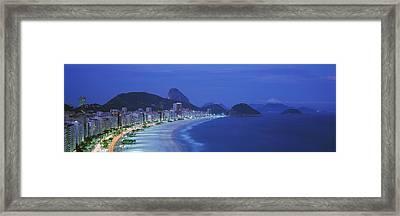 Beach, Copacabana, Rio De Janeiro Framed Print