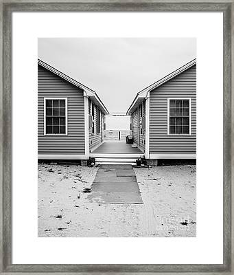 Beach Cottages Framed Print by Edward Fielding