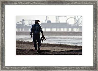 Beach Cowboy Framed Print