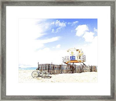 Framed Print featuring the photograph Beach Cruiser by Margie Amberge