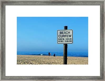 Beach Curfew Framed Print