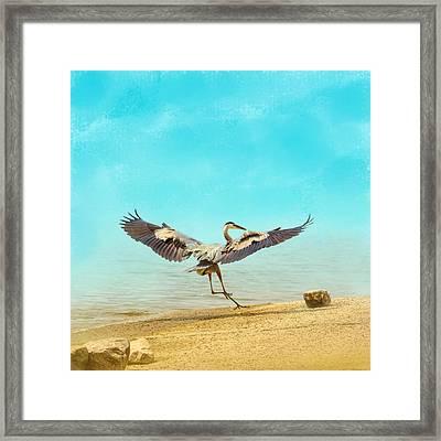 Beach Dancing Framed Print