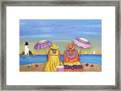 Beach Date Framed Print by Anne Klar