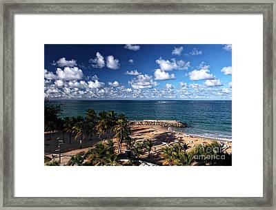 Beach Day At San Juan Framed Print by John Rizzuto