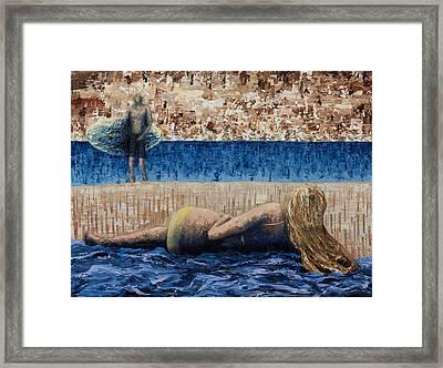 Beach Day Framed Print by Ned Shuchter