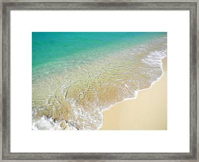 Golden Sand Beach Framed Print