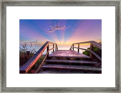 Beach Dreams Framed Print by Debra and Dave Vanderlaan