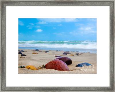 Beach Dreams In Skagen Framed Print by Inge Johnsson
