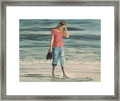 Beach Dreams Framed Print by Tina Stoffel