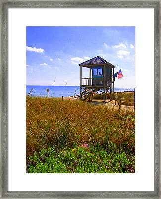 Framed Print featuring the photograph Beach Duty by Artists With Autism Inc