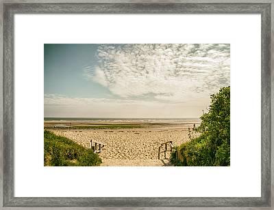 Beach Entry Framed Print by Georgia Fowler