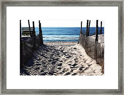 Beach Entry Framed Print by John Rizzuto