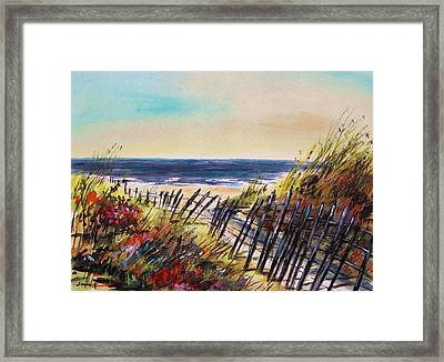 Beach Entry Framed Print