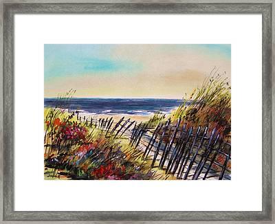 Beach Entry Framed Print