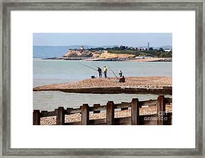 Beach Fishing In The English Channel Framed Print by James Brunker