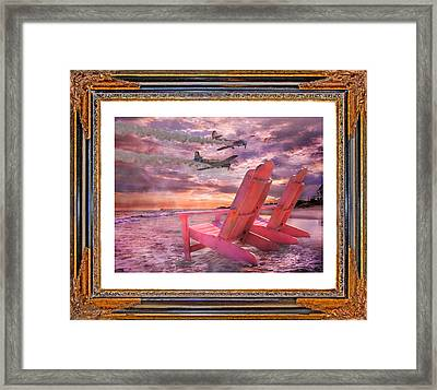 Beach Flight II  Framed Print