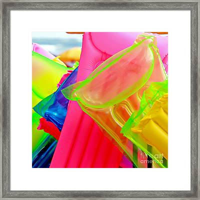 Beach Floats Framed Print by Art Block Collections