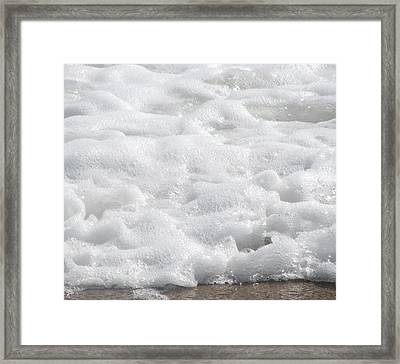 Framed Print featuring the photograph Beach Foam by Cathy Lindsey