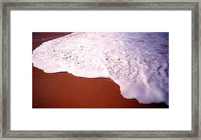 Beach Foam Framed Print