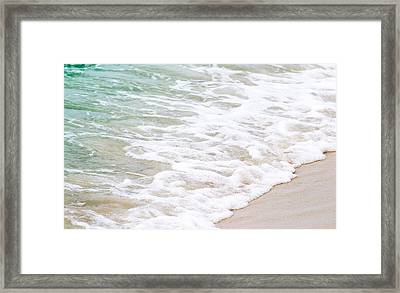 Beach Foam Framed Print by Shelby  Young