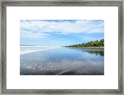 Beach From Bahia Solano Framed Print by Mario A Murcia L