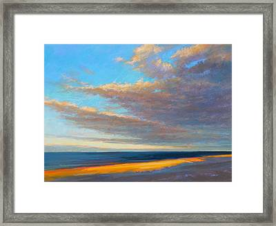Beach Front Framed Print by Ed Chesnovitch