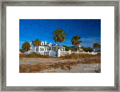 Beach Front Homes Framed Print