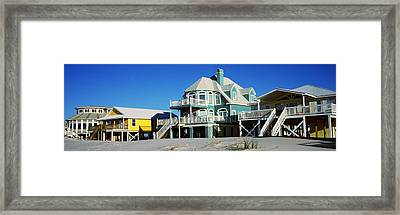Beach Front Houses, Gulf Shores Framed Print by Panoramic Images