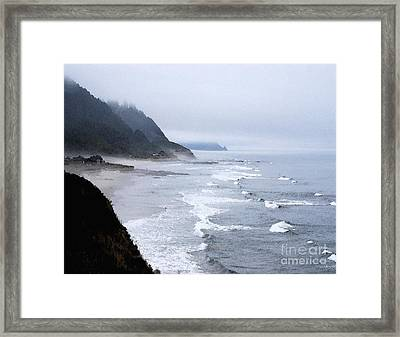 Beach Frontage In Monet Framed Print