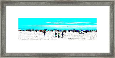Beach Fun 3 Framed Print