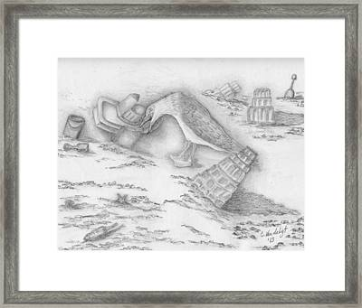Beach Fun Framed Print by Carolann Van de Ligt