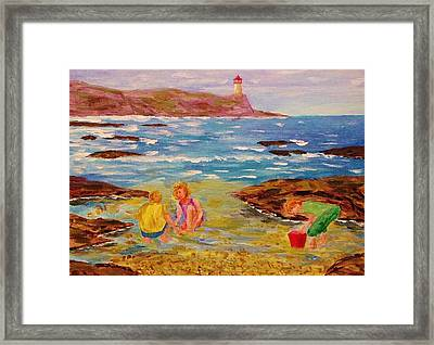 Beach Fun Framed Print
