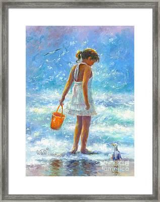 Beach Girl Framed Print
