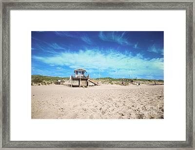 Beach Guard - Sylt Framed Print by Hannes Cmarits