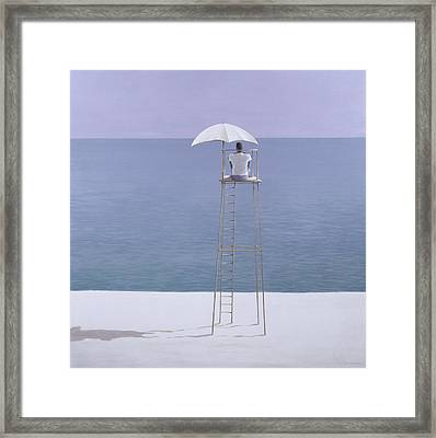 Beach Guard Framed Print