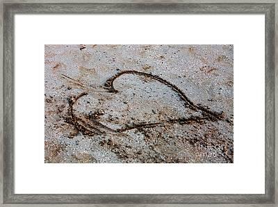 Beach Heart Framed Print by John Rizzuto