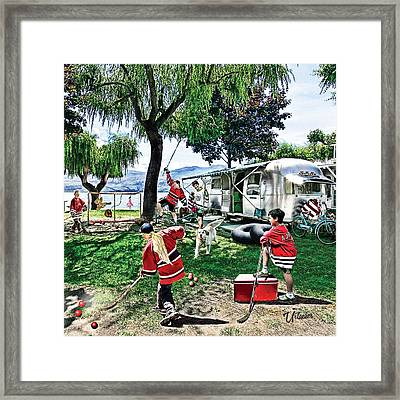 Beach Hockey  Framed Print