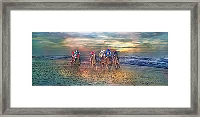 Beach Horses II Framed Print by Betsy Knapp
