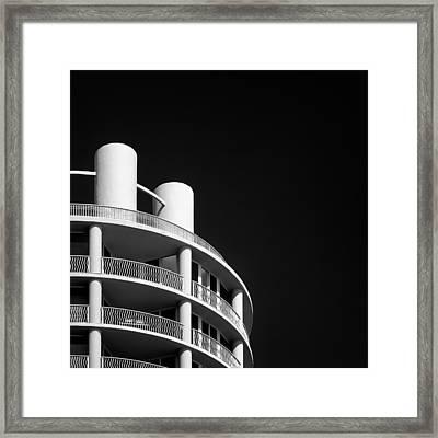 Beach Hotel Framed Print by Dave Bowman