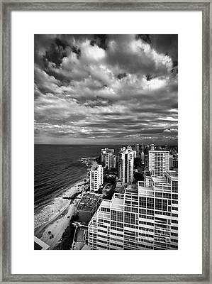 Beach Hotels San Juan Puerto Rico Framed Print