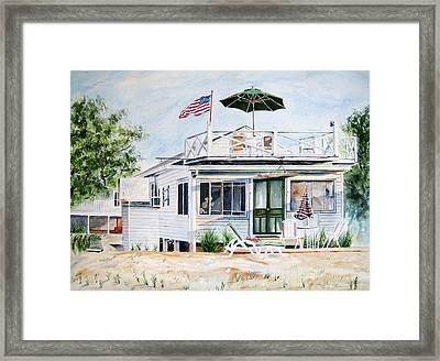 Beach House Framed Print by Brian Degnon