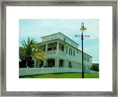 Beach House - Bay Saint Louis Mississippi Framed Print