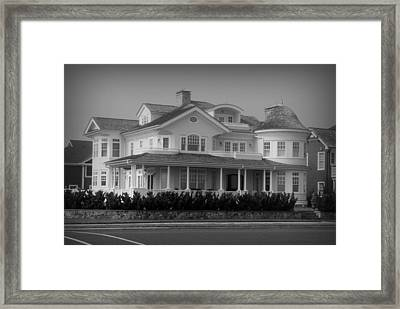 Beach House In Spring Lake - Jersey Shore Framed Print by Angie Tirado