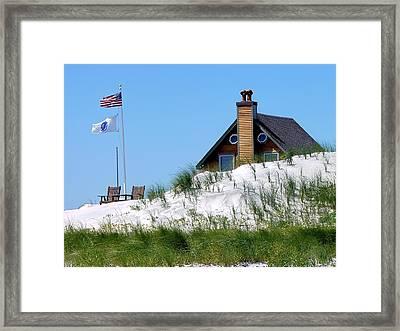 Beach House Framed Print